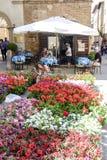 Piazza Pio II dans Pienza Toscane Photos libres de droits