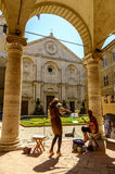 Piazza Pio II square in Pienza Tuscany Royalty Free Stock Photography