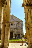 Piazza Pio II square in Pienza Tuscany Royalty Free Stock Image