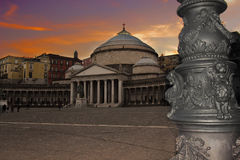 Piazza Plebiscito zdjęcia stock