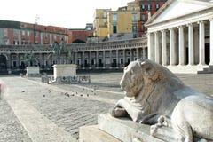 Piazza Plebiscito , Basilica di San Francesco di Paola, Naples, Italy Royalty Free Stock Images