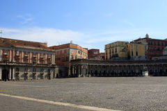Piazza Plebiscito, Naples. View of Piazza Plebiscito in Naples, Italy Stock Photo