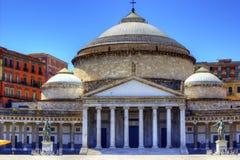 Piazza Plebiscito, Naples. View of Plebiscito square in Naples, Italy stock images
