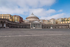 Piazza Plebiscito, in Naples Stock Photo
