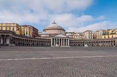 Piazza Plebiscito, in Naples Stock Photo