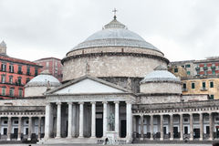 Piazza Plebiscito, Naples, Italy Royalty Free Stock Images