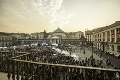 Piazza plebiscito PD party in naples Royalty Free Stock Photo