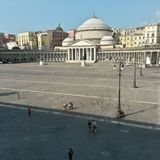 Piazza plebisvito in naples Royalty Free Stock Images