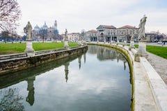 Piazza Prato della Valle, Padua Royalty Free Stock Photos