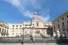 Piazza Pretoria in Palermo royalty free stock photography