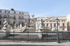 Piazza Pretoria in Palermo stock images