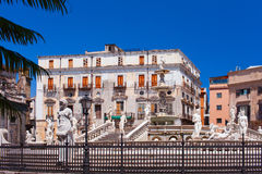 Piazza Pretoria. Palermo, Italy. Royalty Free Stock Images