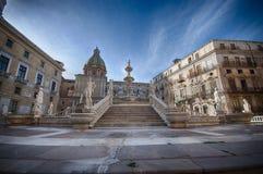 Piazza Pretoria, Palermo in Sicilië Royalty-vrije Stock Afbeeldingen