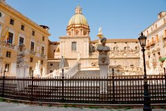 Piazza Pretoria in Palermo, Sicily Royalty Free Stock Photography