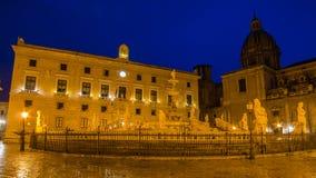 Piazza Pretoria in Palermo, Sicily Stock Photography