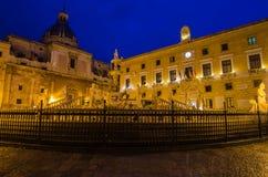 Piazza Pretoria in Palermo, Sicily Stock Images