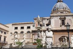 Piazza Pretoria in Palermo Royalty Free Stock Image