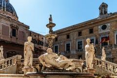 Piazza Pretoria (Piazza della Vergogna). Cityscape Picture of the Piazza Pretoria (Piazza della Vergogna) in Palermo Stock Photo