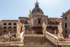 Piazza Pretoria (Piazza della Vergogna). Cityscape Picture of the Piazza Pretoria (Piazza della Vergogna) in Palermo Stock Photos