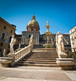 Piazza Pretoria Royalty Free Stock Photography