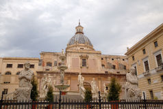 Piazza Pretoria (Pretoria square) in Palermo. Royalty Free Stock Image