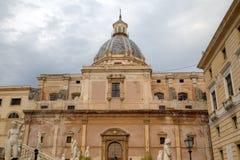 Piazza Pretoria (Pretoria square) in Palermo. Stock Photo