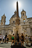 Piazza przy Rzym Navona Zdjęcia Royalty Free