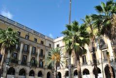 Piazza real, Barcelona lizenzfreie stockbilder