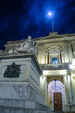 Piazza Regina. Malta at night Royalty Free Stock Photo
