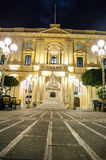 Piazza Regina. Malta at night Royalty Free Stock Images