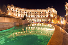 Piazza Repubblica, Rome at night Stock Photos