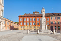 Piazza Roma and monument to Vincenzo Borelli, Modena Royalty Free Stock Photography