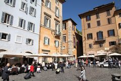 Piazza in Rome Royalty Free Stock Photography