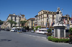 Piazza Saint Antonio in Sorrento, Italy Royalty Free Stock Photo