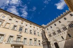 Piazza Salimbeni a Siena Immagine Stock Libera da Diritti