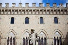 Piazza Salimbeni in Siena Royalty Free Stock Photos
