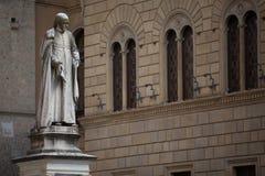 Piazza Salimbeni in Siena, Tuscany. Stock Image