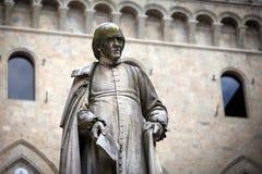 Piazza Salimbeni in Siena, Tuscany. Royalty Free Stock Images