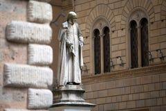 Piazza Salimbeni in Siena, Tuscany. Royalty Free Stock Photos