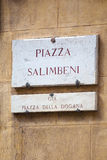 Piazza Salimbeni in Siena, Tuscany Royalty Free Stock Photography