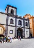 Piazza San Antonio. Basilica di San Antonio. Sorrento. Italy stock photos