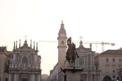 Piazza San Carlo -  royal square in Turin Stock Photo