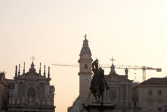 Piazza San Carlo -  royal square in Turin Stock Photos