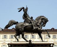 Piazza San Carlo, Turin Royalty Free Stock Images