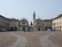 Piazza San Carlo, Turin Royalty Free Stock Photo