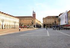 Piazza San Carlo, Turin, Aosta Valley, Italy Stock Photos