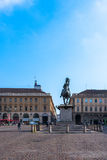 Piazza San Carlo in Turin Royalty Free Stock Images