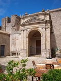 Piazza San Domenico, Erice, Sicily, Italy Royalty Free Stock Image
