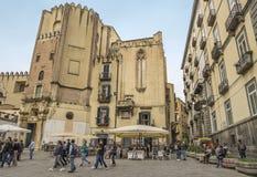 Piazza San Domenico Maggiore,Naples Stock Images