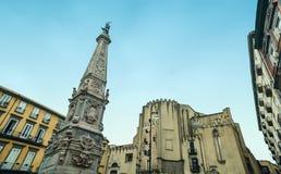 Piazza San Domenico Maggiore, Naples Royalty Free Stock Photo